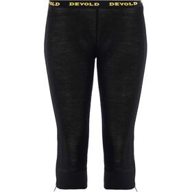 Devold Wool Mesh Zip-Off Capri Pantalones Mujer, black